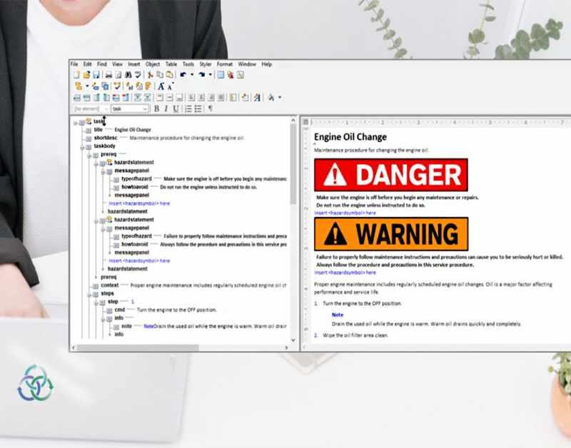 Arbortext Warning Sign