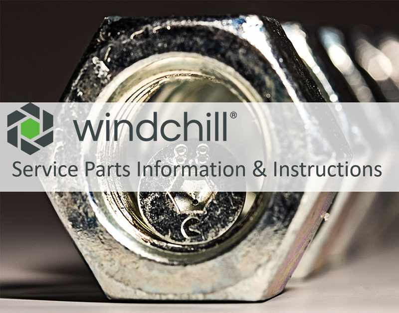 Windchill Service Parts Informations & Instructions Product Page