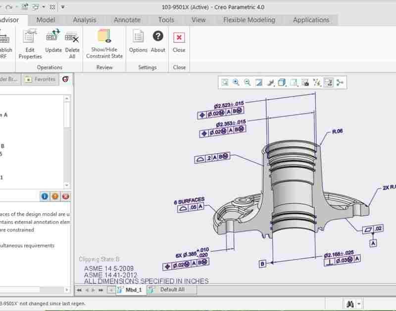 Creo Design Package GD&T Advisor