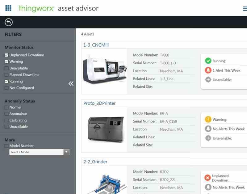 Thingworx Asset Advisor Key Feature